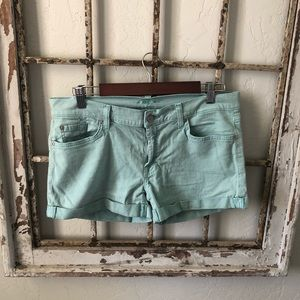 Blue green 7 for all mankind shorts